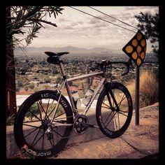 My Litespeed T1 Titanium bike with Mad Fiber wheels. Love it.