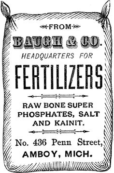 Vintage Fertilizer Sack Image