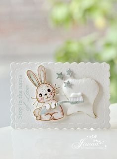 Fans of Magnolia Hello. I'll show you a toothbrush card today. I have two more cards and I will post them on Magnolia Blog, Vintage Box, Scrapbooking Layouts, Halloween, Stamp, Diy Cards, Projects, Easter, Inspiration