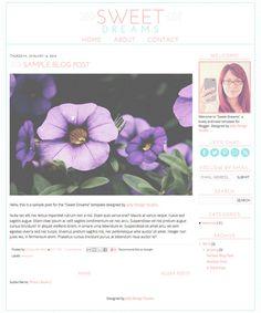 Blogger Template  Premade Blog Theme Design by jellydesignstudio