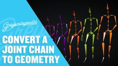 Cinema 4D Tutorial - Convert A Joint Chain To Geometry In Cinema 4D