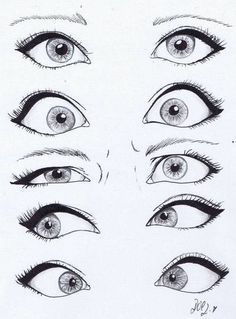 Looking at drawings of eyes, i like the cartoon style in which these are done, i think its important to get eyes right because it really captures a persons expression. #drawingfaces