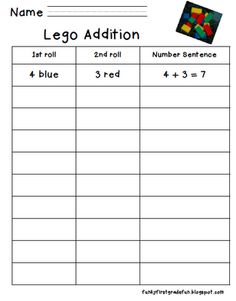 Funky First Grade Fun: add & sub with legos (1st)
