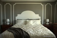 Painted wall / painted headboard