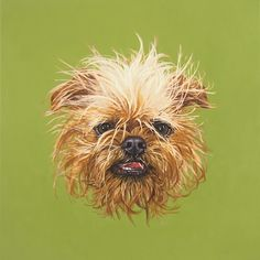 Cool People With Dogs: Paint-by-Number Artist Trey Speegle painting of his dog Lamonte
