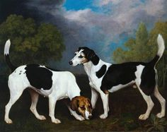 A Couple of Foxhounds by George Stubbs Date painted: 1792