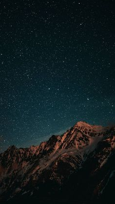 Night Sky and Snow Mountains - iPhone Wallpapers