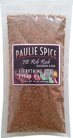 Paulie Spice : Sweet & Smoky BBQ Rib Rub and Seasoning For: Ribs, Chicken, Wings, Meat, Pork, Brisket, Roast, Beef, Salmon, Fish, Barbecue, Grilling, Hickory, Smoked, Smokey, All Purpose Seasoning, Dry, Rubs, Seasonings, Spices, 16 oz by Paulie Spice -- Awesome products selected by Anna Churchill