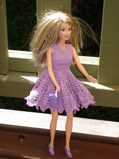Ravelry: Morning Glory Fashion Doll Dress pattern by Anna Ness
