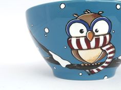 Large owl cereal bowl bowl with chilly owl owl mug par vitaminaeu