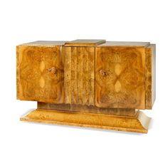 An Art Deco walnut sideboard