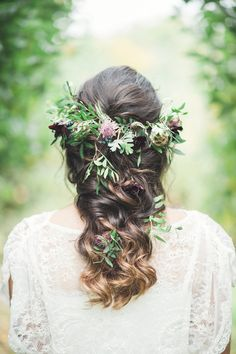 Bride In Red Wedding Dress By Indiebride From Minna Woodland Luxe Wedding Inspiration At Knighton House Dorset Images By Darima Frampton Fishtail Braid Wedding, Braided Prom Hair, Wedding Braids, Wedding Hair Down, Boho Braid, Fishtail Braids, Fall Wedding Flowers, Flower Crown Wedding, Wedding Hair Flowers