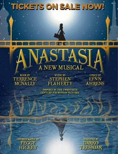 Anastasia opening on Broadway April 24, 2017 at the Broadhurst Theatre, following its world premiere at Hartford Stage. Check out all the details and lots of pictures by Joan Marcus from the Hartford Stage Production.