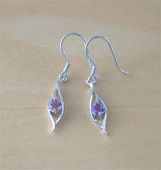 925 Amethyst Earrings/Sterling Silver by joannasjewellerycouk