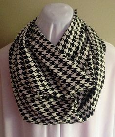 Black and White Houndstooth Print Extra Long by MarieKayDesigns7, $12.00