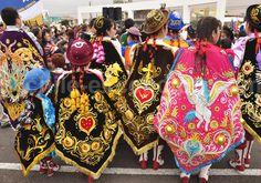 La fiesta de la Vierge Carmen de la Tirana Vera Bradley Backpack, Geo, Festivals, Chile, Culture, Vestidos, Ethnic Dress, Costume, Sketches