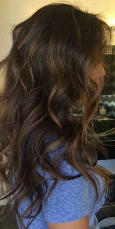 Balayage curly hair more brunette hair highlights, brunette hair colors Burnette Hair, Beautiful Hair Color, Pretty Hairstyles, Latest Hairstyles, Short Hairstyles, Dark Brown Hairstyles, Style Hairstyle, Ombre Hair, Hair Dye