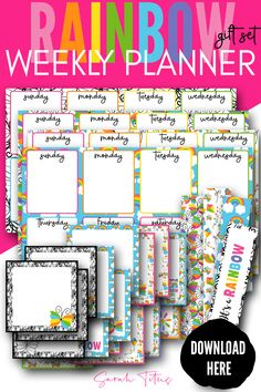 Oh my gosh! This super cute free printable weekly planner template is perfect for kids, students, your to do list, everything! It's a horizontal PDF that's a fast download! Grab it today!!! Kids Planner, Planner Pages, Happy Planner, Planner Diy, Planner Organization, Weekly Planner Template, Printable Planner, Free Printables, Schedule Templates