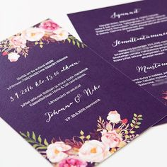Johannan ja Nikon kutsut tunnelmallisiin syyshäihin #häät #häät2016 #häät2017 #hääkutsu #hääkutsut #kutsu #makeadesign #makea_design #bröllop #inbjudan