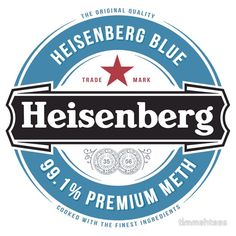 Heisenberg blue sticker ~ Breaking Bad