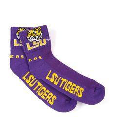 Look at this #zulilyfind! Louisiana State Tigers Purple Socks - Adult #zulilyfinds