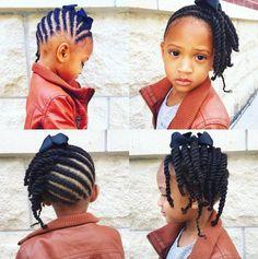 "Search for ""flat twist updo"" Little Girl Braids, Black Girl Braids, Braids For Kids, Girls Braids, Lil Girl Hairstyles, Girls Natural Hairstyles, Kids Braided Hairstyles, Black Hairstyles, Kids Hairstyle"