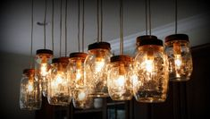 12 Light Mason Jar Chandelier Rustic Cedar by IronLumberandLight