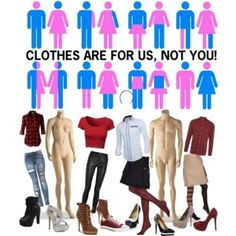 """Genderless Fashion. Femininity and masculinity aren't gender roles. Being a """"man"""" and """"woman"""" are. Femininity isn't a weakness, that's the issue, it's seen as such, and so boys aren't encouraged and allowed to be feminine, but boys have femininity, just like girls have masculinity, so it's important that we accept and express it.  It's time to remove the gender binary for good and allow human being to be who they are."""