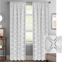 Better Homes and Gardens Metallic Trellis Gold Foil Curtain Panel - Walmart.com