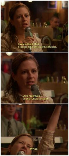 Drunk Pam at The Dundies