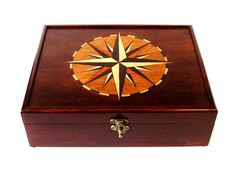 Compass Rose Heirloom Watch Box or Tea Chest: Premium by DekoMuse - I need this in the worst way.