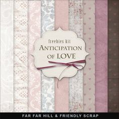 Far Far Hill: New Freebies Background Kit - Anticipation of Love