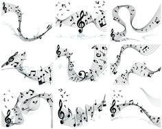 Musical Note Set3 Musicals, Waves, Calligraphy, Note, Artwork, Lettering, Work Of Art, Auguste Rodin Artwork, Artworks