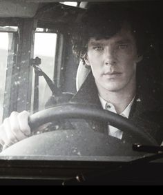 Sherlock.. fun fact.. the only reason Benedict Cumberbatch drove in this scene was because he knows how and Martin Freeman does not. John was supposed to be driving. Me: I've pinned something to this effect before. I just love the fa---er, shot. Yes, gorgeous shot there.
