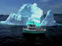 Why May is the best month to visit N L: Panoramic footage of icebergs along the scenic shores of Newfoundland and Labrador Newfoundland Icebergs, Terra Nova, Newfoundland And Labrador, Newfoundland Canada, Travel General, Whale Watching, Canada Travel, Nova Scotia, Beautiful Islands