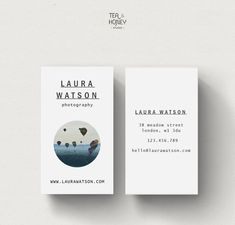 Photography calling card, premade business card, modern business card, name…