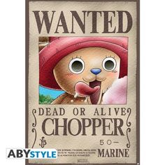 ONE PIECE Poster One Piece Wanted Chopper (98x68)