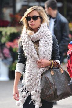 scarf + shades + bag.
