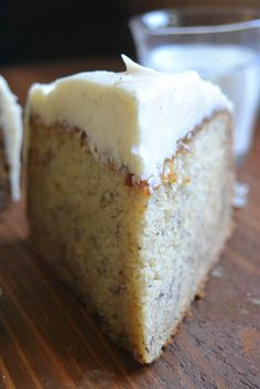 The best banana cake loaded with spiced vanilla bean frosting