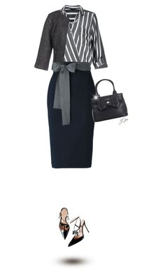 """""""Bows and Stripes"""" by jgee67 ❤ liked on Polyvore featuring ONLY, River Island, Sofie D'hoore, Vivienne Westwood and Kenneth Jay Lane"""