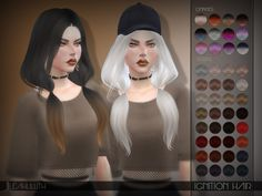 The Sims Resource: LeahLillith Ignition Hair • Sims 4 Downloads #BouffantHairHairstyles