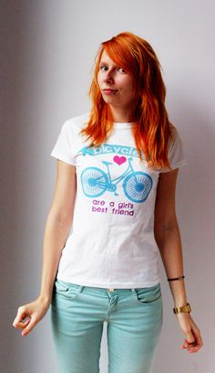 #Bicycles are a girl's best friend #Tshirt