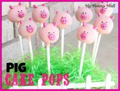 Pig Cake Pops - Six Sisters Stuff