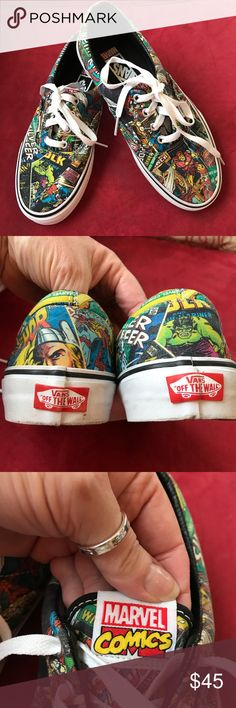 Marvel Comics Vans New never worn! A great gift for yourself or Amy Marvel Comics lover!!! Vans Shoes Sneakers