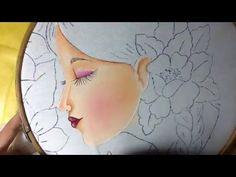 Pintura en tela niña clavel # 1 con cony - YouTube