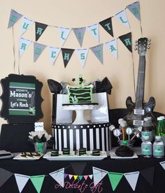 Rockstar for Boy Birthday Party Ideas | Photo 2 of 8 | Catch My Party