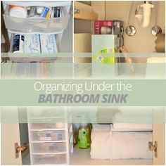 Learn how to #organize under the #bathroom sink!
