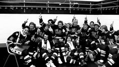 Team USA in the locker room after the Finland game, February 24, 1980.