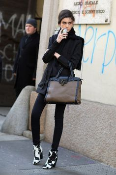 Model, Mulberry, Milan, Moo | Street Fashion | Street Peeper | Global Street Fashion and Street Style