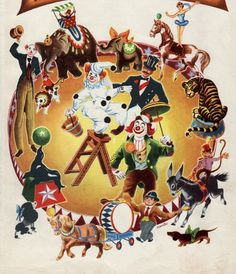 antique CIRCUS print 1940s vintage by theStoryOfVintage on Etsy, $19.50